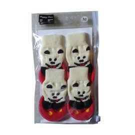 Puppy Love Anti Skid Sock Shoes for Small to Medium Breed Dogs, red, medium