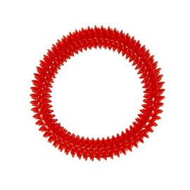 Nunbell Nylon Spiked Play Ring for Dogs and Cats, small, red
