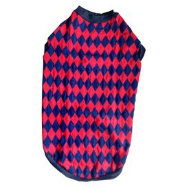 Rays Woollen Warm Sweater for Large Dogs, 28 inch, red black brick