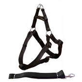 Canine Nylon Padded Body Harness Set for Medium Dogs, black