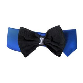 Zorba Designer Fancy Collar with Bow for Dogs, medium, blue