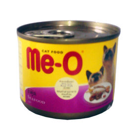 MeO Seafood Canned Cat Food, 185 gms