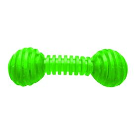 Nunbell Solid Nylon Flexible Dumble Dog Toy, green, 5 inch
