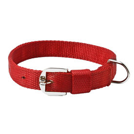 Kennel Nylon Royal Dog Collar for Medium to Large Dogs, 1.25 inch, 24 inch, red