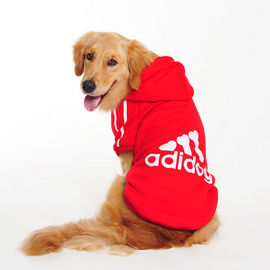 Adidog Winter Warm Hoodie Sweatshirt for Large Dogs, red, 9xl