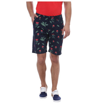Breakbounce Mambe Comfort Fit Printed Shorts,  navy, 36