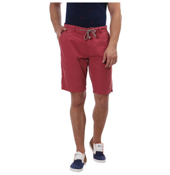 Breakbounce Eyasi Comfort Fit Solid Shorts,  red orange, 36