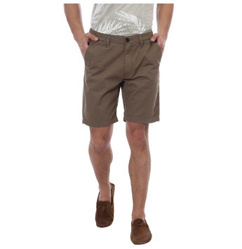 Breakbounce Dodoma Comfort Fit Solid Shorts,  khaki, 28