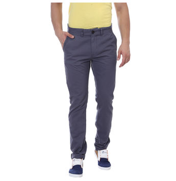 Breakbounce Kigosi Slim Fit Solid Trousers,  dark grey, 28