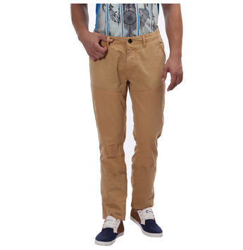 Breakbounce Hayter Regular Fit Solid Trousers,  crust brown, 34