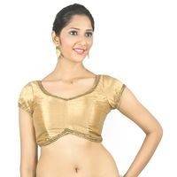 Curve. Just like you. Dupion silk gold padded blouse, 40