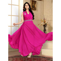 Party Wear Pink Gown