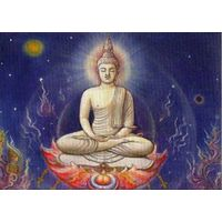 Canvas Wall Painting Buddha Meditating