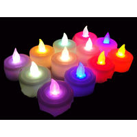 Multicolour Tealight LED Candles -Set of 12