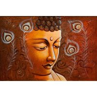 Canvas Wall Painting Lord Buddha Meditation