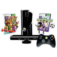 XBOX 360 SLIM STD CONSOLE 4GB 1UP BUNDLE CONSOLE BLACK