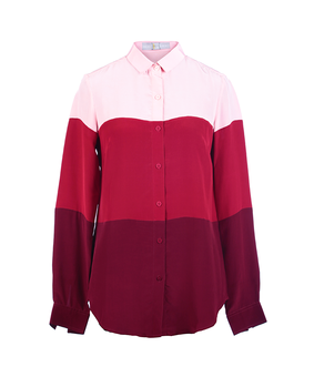 Huemn Blocked Red Shirt, s, red