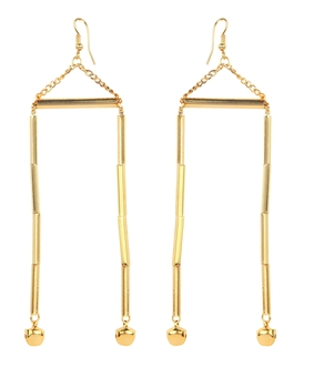 Micare Tube Earrings, gold