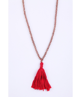Micare Jaipur Necklace, red