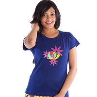 Snail Women Tee, xs, navy blue