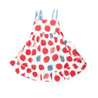 BUGS - FROCK, white & red, 5
