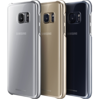 SAMSUNG GALAXY S7 EDGE CLEAR BACK CASE,  gold