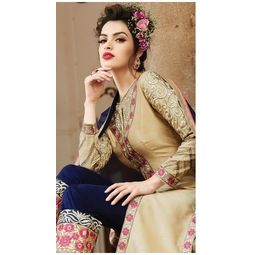 Georgette Designer dress material,  golden, standard