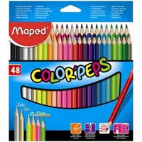 Maped Color Peps Colour Pencil (Cardboard Box, 48 Shades)