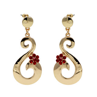 Red And Golden S Shape Dangler
