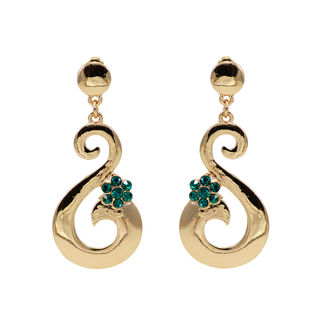 Green And Golden S Shape Dangler