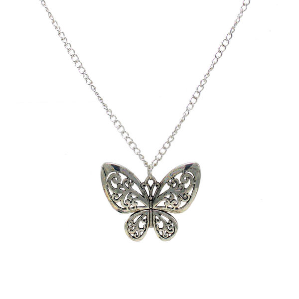 Silver Butterfly Design Alloy Fashion Pendant
