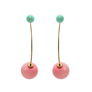 Pink And Blue Ball Studded Trendy Fashion Dangler