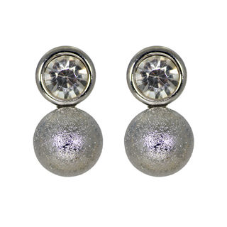Silver Ball Fashion Stud Earring for women