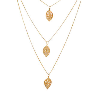 Elegant And Classy 3 Layer Gold Tone Chain Pendants