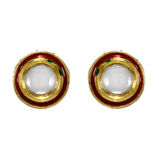 Kundan Adorned Gold Tone Ethnic Stud For Women