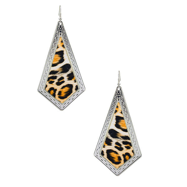 Leopard Print Fashion Danglers For Women