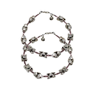 Silver Design Anklet Set For Girls