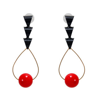 Red And Black Designer Fashion Danglers