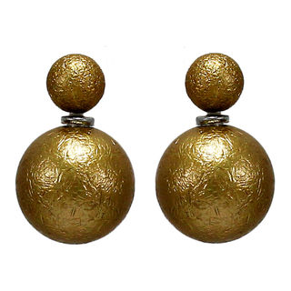 Golden Reversible Fashion Studs For Girls