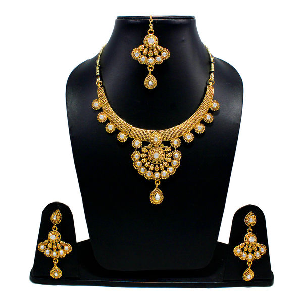 Gold Tone Traditional Necklace In Copper For Women