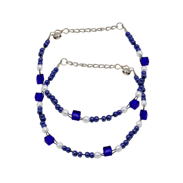 Blue Beads Fashion Anklet For Girls
