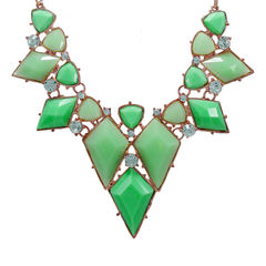 Stylish Green Stones Adorned Fashion Necklace For Women