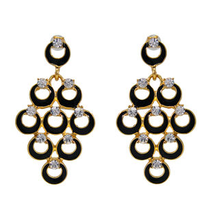 Designer Black Fashion Danglers For Women