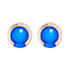Blue And Golden Pair Of Fashion Stud Earring For Women