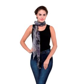 Scarves & Glitters Printed Ruffle Scarf,  grey