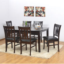 Malmo 6 Seater Dining Kit - @home Nilkamal,  brown