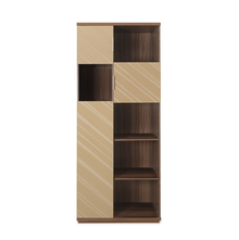 Maestro Storage Cabinet - @home by Nilkamal, Walnut with Sand Beige