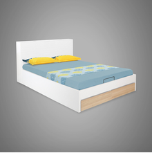 Fusion King Bed with Hydraulic Storage - @home by Nilkamal, White