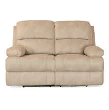 Oriel 2 Seater Sofa with 2 Electric Recliner - @home by Nilkamal, Stone Beige