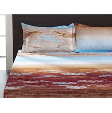 Seasons Floral Double Bed Sheet - @home By Nilkamal, Multicolor